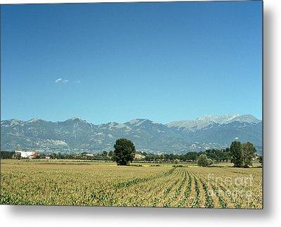 Corn Field With Terminillo II Metal Print by Fabrizio Ruggeri