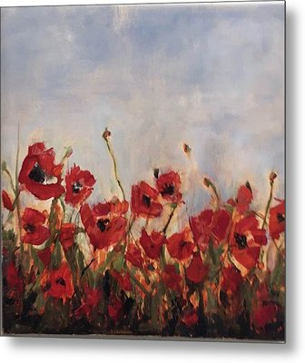 Corn Poppies Metal Print
