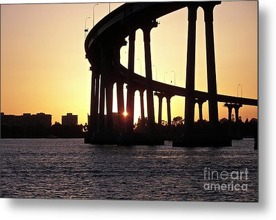 Coronado Bridge Sunset Metal Print