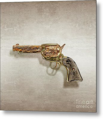 Metal Print featuring the photograph Corroded Peacemaker by YoPedro