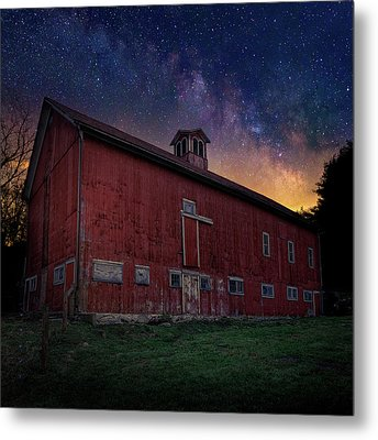 Metal Print featuring the photograph Cosmic Barn Square by Bill Wakeley