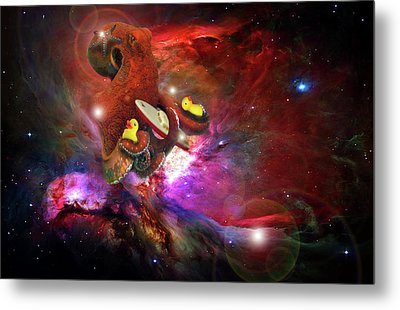 Cosmic Bath Time Metal Print