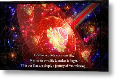 Cosmic Inspiration God Source 2 Metal Print