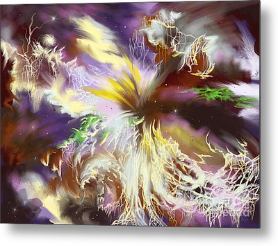The Flowering Of The Cosmos Metal Print by Amyla Silverflame