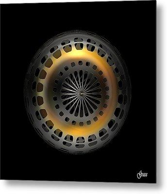 Cosmic Tire Metal Print by Julie Grace