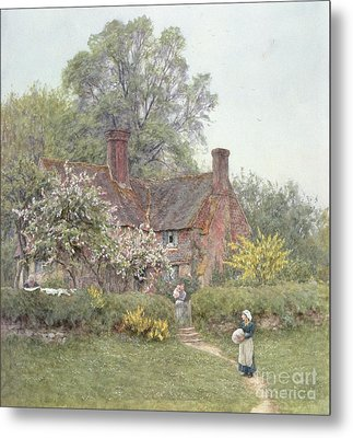 Cottage At Chiddingfold Metal Print by Helen Allingham