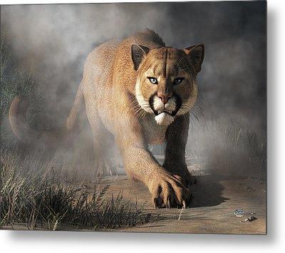 Cougar Is Gonna Get You Metal Print by Daniel Eskridge