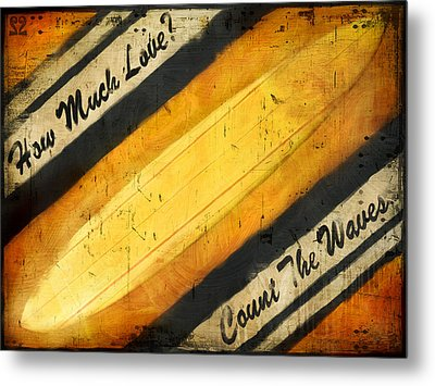 Count The Waves Metal Print