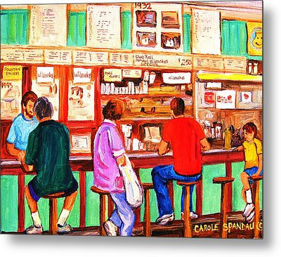 Metal Print featuring the painting Counter Culture by Carole Spandau