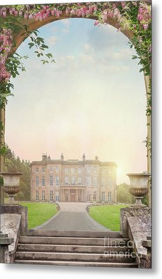 Country Mansion At Sunset Metal Print by Lee Avison
