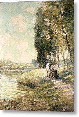 Country Road To Spuyten Metal Print by Ernest Lawson