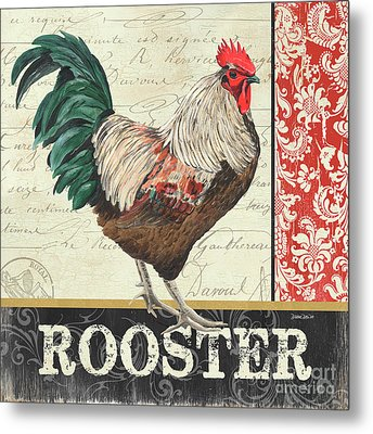 Country Rooster 1 Metal Print