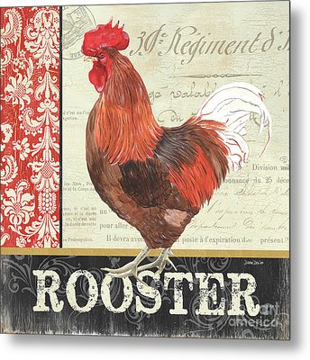 Country Rooster 2 Metal Print by Debbie DeWitt