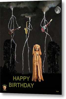 Country Scream Happy Birthday Metal Print by Eric Kempson