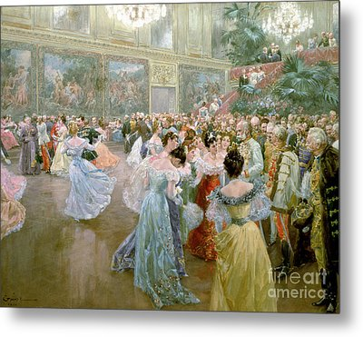 Court Ball At The Hofburg Metal Print by Wilhelm Gause