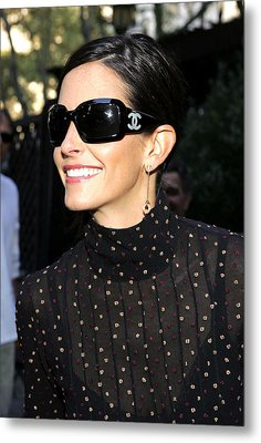 Courteney Cox Wearing Chanel Sunglasses Metal Print