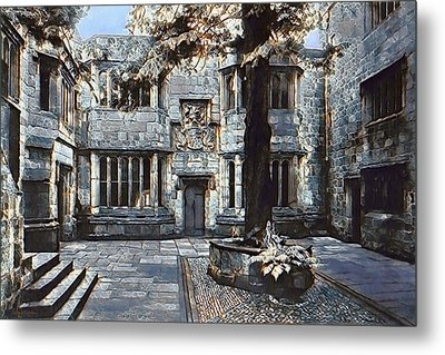 Metal Print featuring the digital art Courtyard Of Skipton Castle by Pennie McCracken
