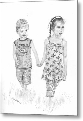Cousins Metal Print by Sue Olson