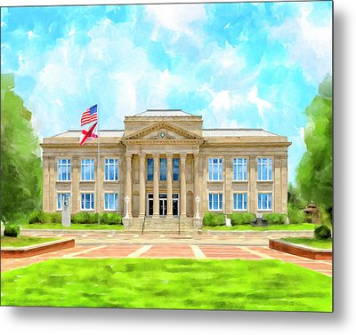 Metal Print featuring the mixed media Covington County Courthouse - Andalusia Alabama by Mark Tisdale