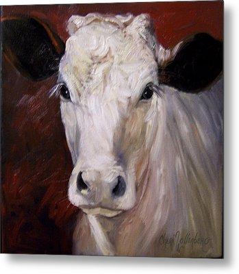 Cow Painting Of Charlene Metal Print by Cheri Wollenberg