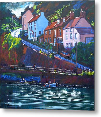 Cowbar - Staithes Metal Print by Neil McBride