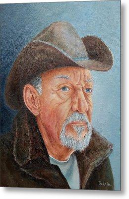 Cowboy Bob Metal Print by Susan DeLain