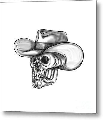Cowboy Skull Tattoo Metal Print by Aloysius Patrimonio