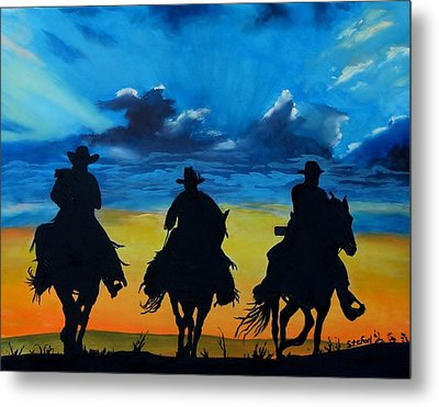 Cowboy  Sunset Metal Print by Stefon Marc Brown