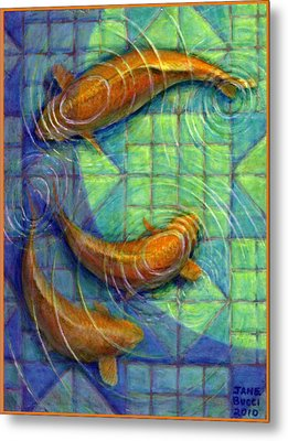 Coy Koi Metal Print by Jane Bucci