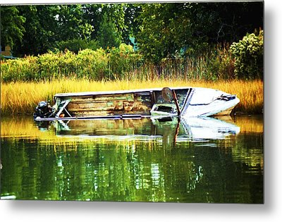 Crab Boat Retired Metal Print