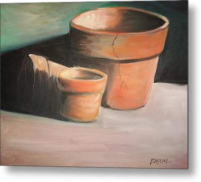 Cracked Pots Metal Print by Scott Easom