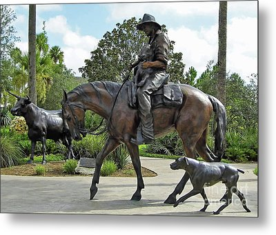 Cracker Cowboy And His Dog Metal Print