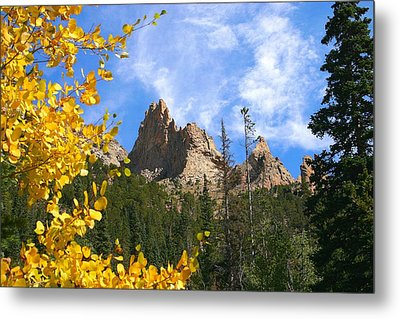 Metal Print featuring the photograph Crags In Fall by Perspective Imagery