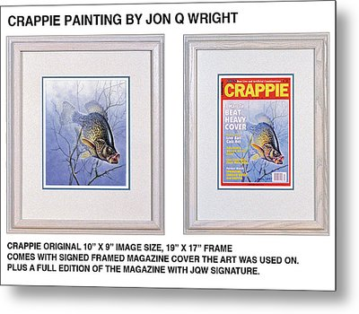Crappie Magazine And Original Metal Print