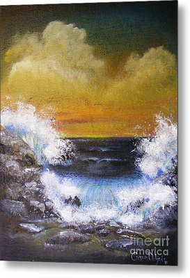Crashing Waves Metal Print by Crispin  Delgado