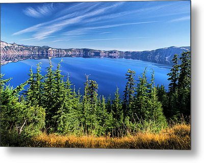 Metal Print featuring the photograph Crater Lake Rim Reflections by Frank Wilson