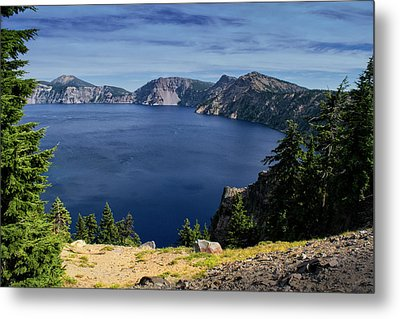 Metal Print featuring the photograph Crater Lake View by Frank Wilson