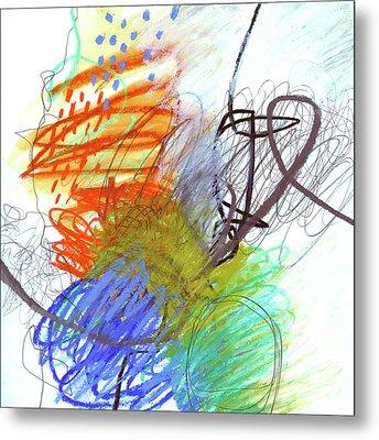 Crayon Scribble #4 Metal Print by Jane Davies