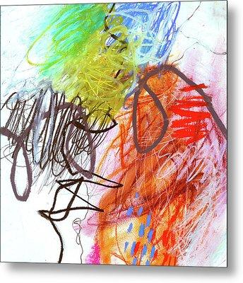 Crayon Scribble#2 Metal Print by Jane Davies