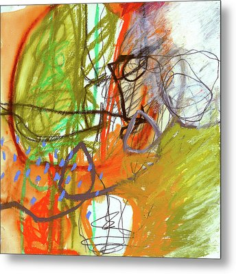 Crayon Scribble#3 Metal Print by Jane Davies