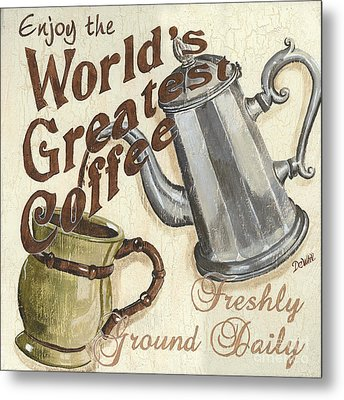Cream Coffee 1 Metal Print by Debbie DeWitt