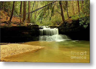Creation Falls In Spring Metal Print by Matthew Winn
