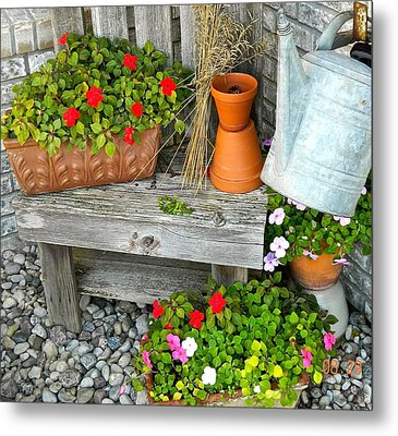 Creative Garden Setting Metal Print