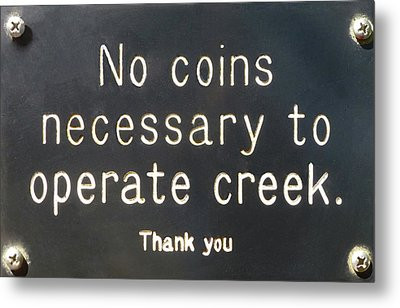 Creek Sign Metal Print