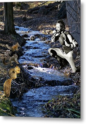 Metal Print featuring the photograph Creekside Serenade By Ian by Ben Upham