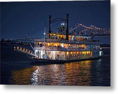 Creole Queen Riverboat Metal Print