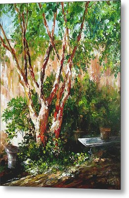 Metal Print featuring the painting crepe myrtle SOLD by Gloria Turner