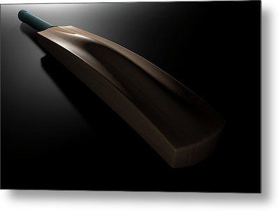 Cricket Bat Dark Metal Print