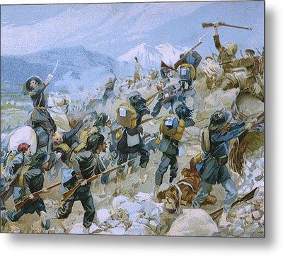 Crimean War And The Battle Of Chernaya Metal Print by Italian School