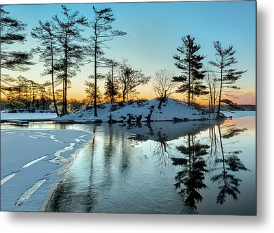 Crisp And Cold Start To The Day Metal Print